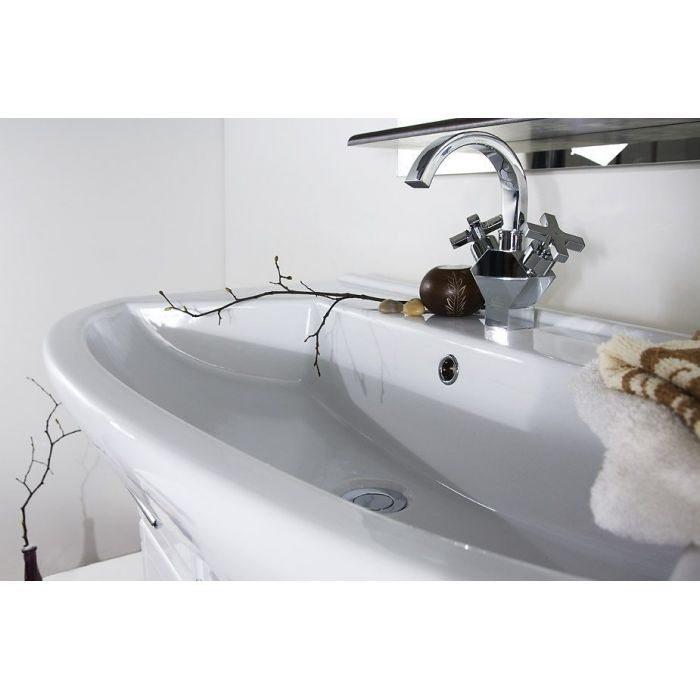 Тумба для ванной Альфа 75 чёрный бриллиант