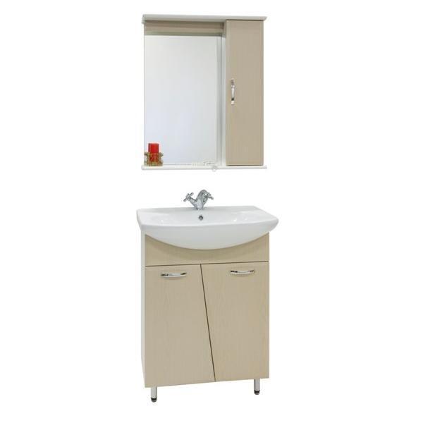 Комплект мебели для ванной комнаты Лагуна (цвет дуб)
