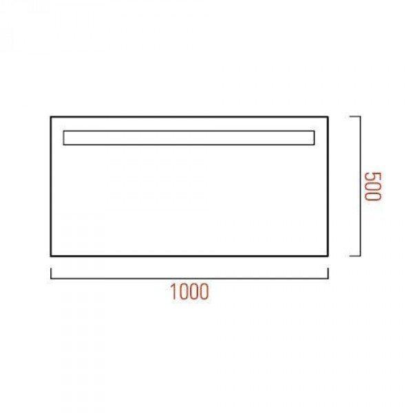 Зеркало для ванной комнаты с подсветкой GSI MSPEC08 100 см на 50 см