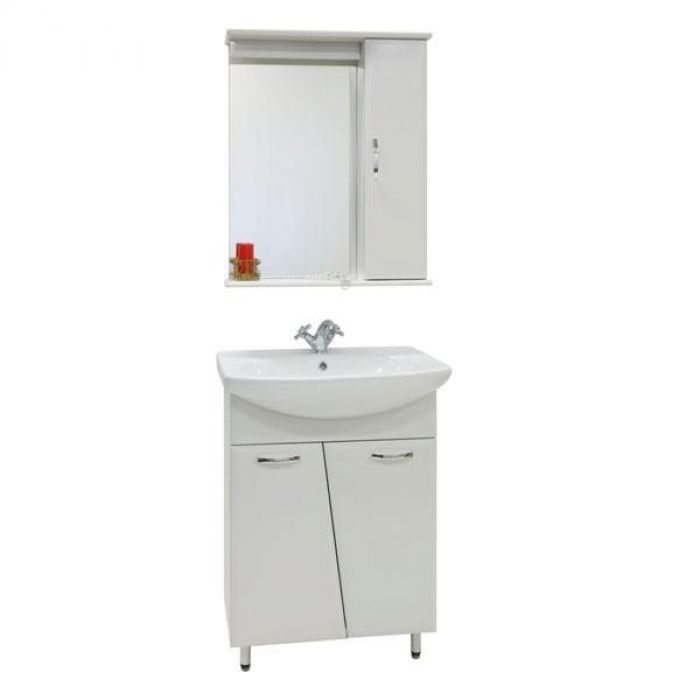 Комплект мебели для ванной комнаты Лагуна (цвет белый)