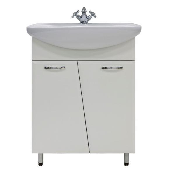 Тумба для ванной с раковиной Лагуна (цвет белый)