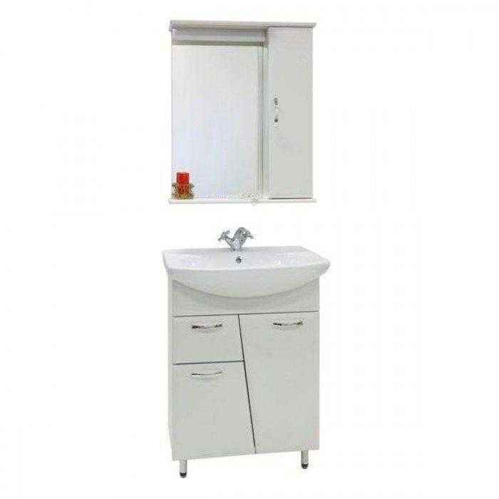 Комплект мебели для ванной комнаты Лагуна 1я (цвет белый)