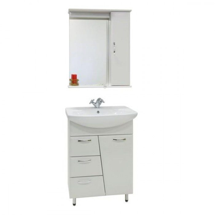 Комплект мебели для ванной комнаты Лагуна 3я (цвет белый)