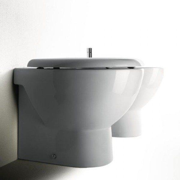 Унитаз напольный приставной GSI modo 771411 с сидением и крышкой TONDO
