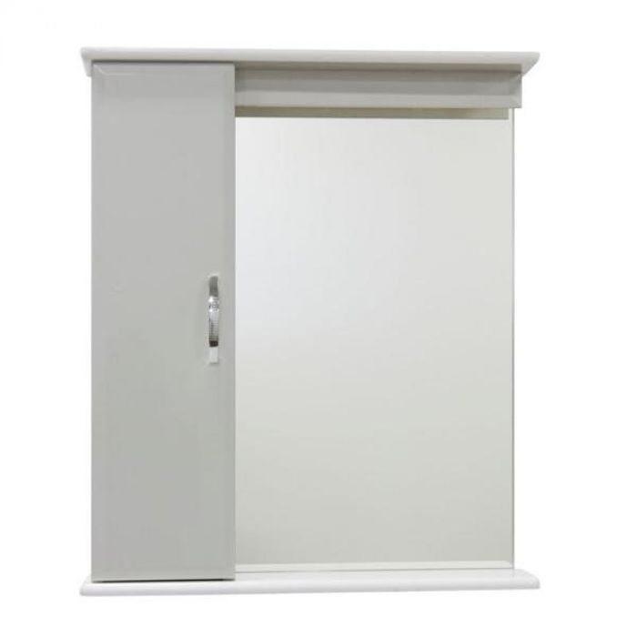 Зеркало со шкафом Тунис 65 (цвет белый)