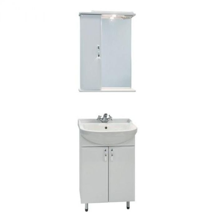 Комплект мебели для ванной комнаты Классик 55 (цвет белый)
