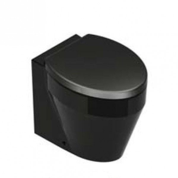 Унитаз напольный приставной GSI losanga black 751420 (черный)