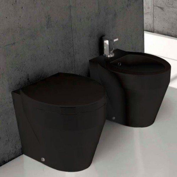 Биде напольное GSI losanga black 756220 (черное)