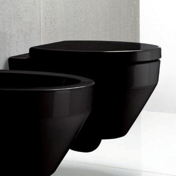 Унитаз подвесной GSI losanga BIG Black 751020 (черный)