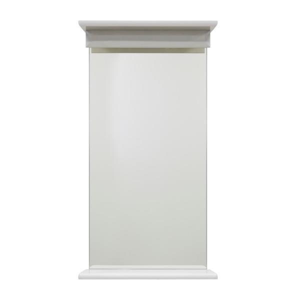 Зеркало с полкой 35 ВОДОЛЕЙ А+ (цвет белый)