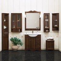 Шкаф для ванной OPADIRIS Клио 32 подвесной угловой