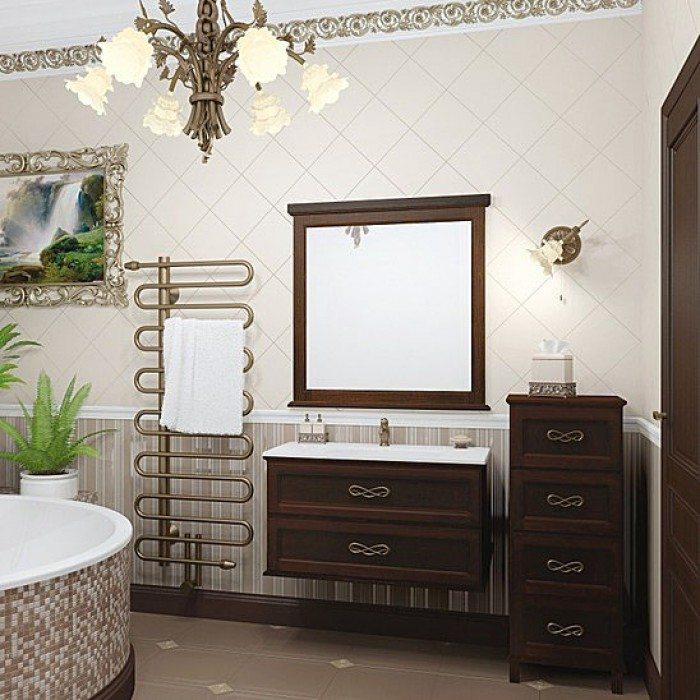 Комплект мебели OPADIRIS Гарда 90 с пеналом (орех антикварный, слоновая кость)