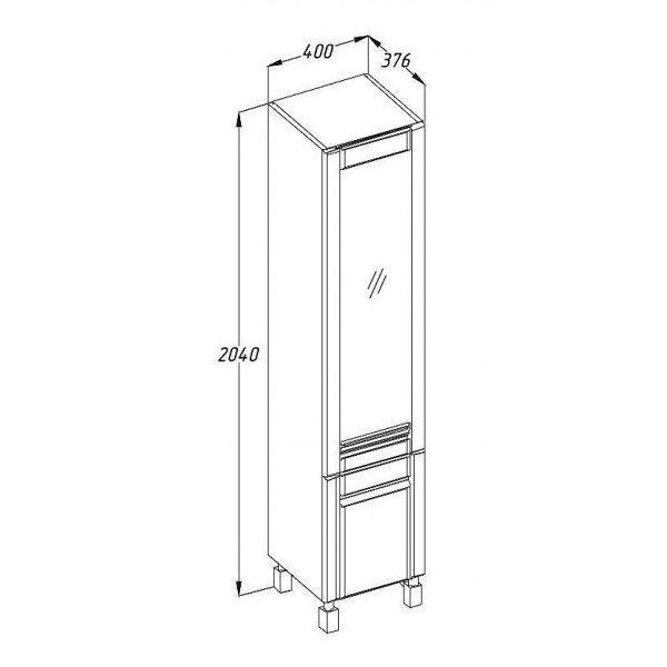 Комплект мебели OPADIRIS Лаварро 70 с пеналом