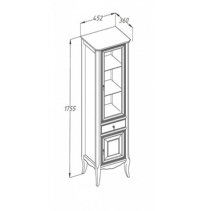 Комплект мебели OPADIRIS Лоренцо 100 см с пеналом