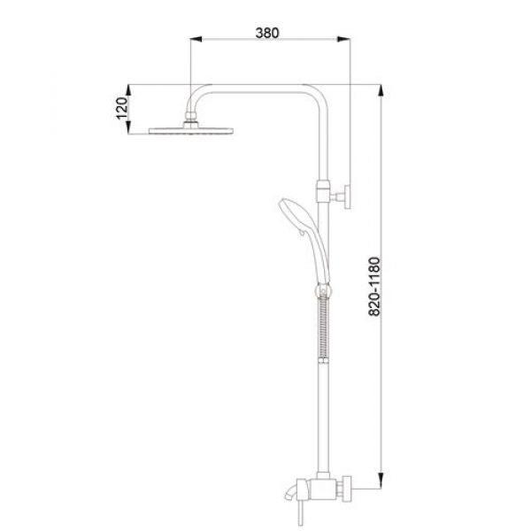 Душевая система Raiber R0804