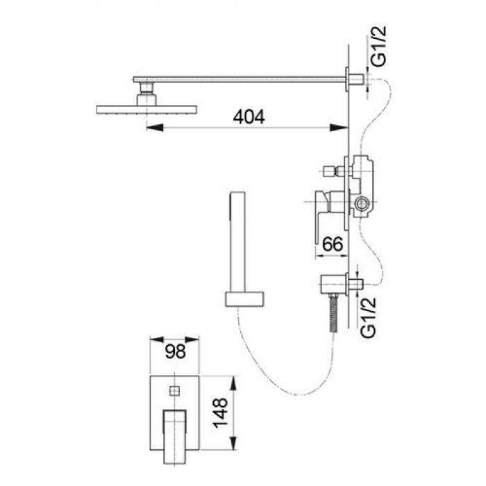 Душевая система скрытого монтажа Raiber R9503