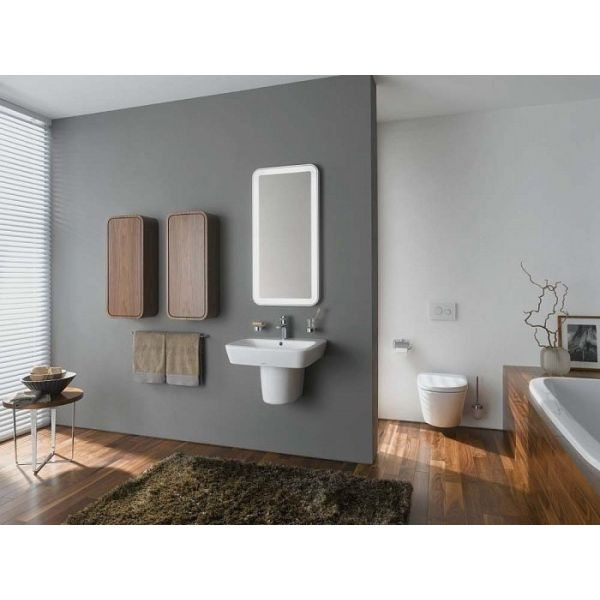 Пенал для ванной с корзиной для белья ВОДОЛЕЙ А+ (цвет венге)