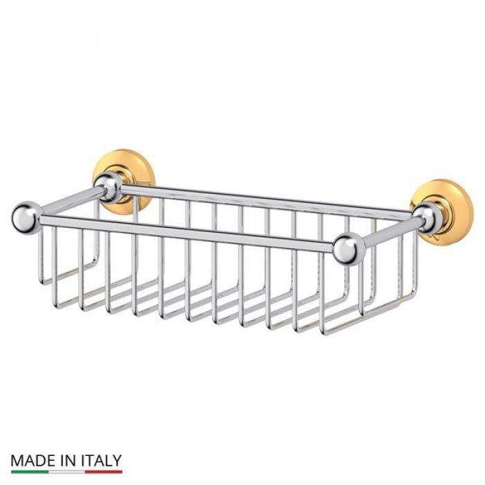 Полочка-решетка 31 cm (хром/золото) (3SC) STI 107 для ванной