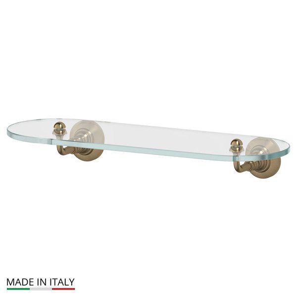 Полка с держателями 40 cm (стекло; античная бронза) (3SC) STI 514 для ванной