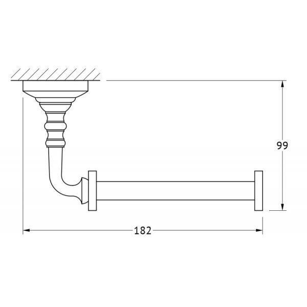Держатель туалетной бумаги (золото) (3SC) STI 221 для ванной