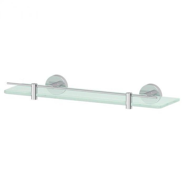 Полка с держателями 40 cm (матовое стекло; хром) (ARTWELLE) HAR 034 для ванной