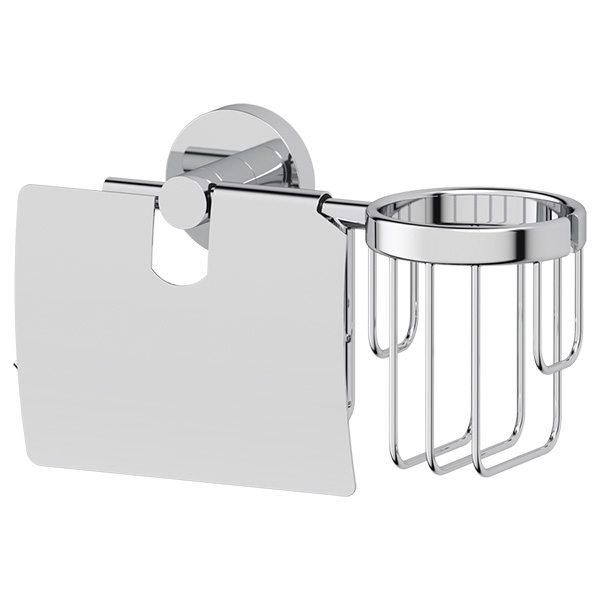 Держатель туалетной бумаги с крышкой и освежителя воздуха (хром) (ARTWELLE) HAR 051 для ванной