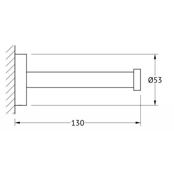 Держатель запасных рулонов туалетной бумаги (хром) (ARTWELLE) HAR 049 для ванной