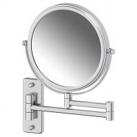 Косметическое зеркало двустороннее x5 (хром) (DEFESTO)