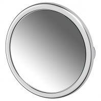 Косметическое зеркало на вакуумных присосках x5 (хром) (DEFESTO)