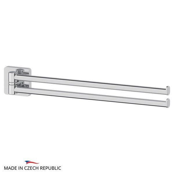 Держатель полотенец поворотный двойной 37 cm (хром) (ELLUX) AVA 016 для ванной
