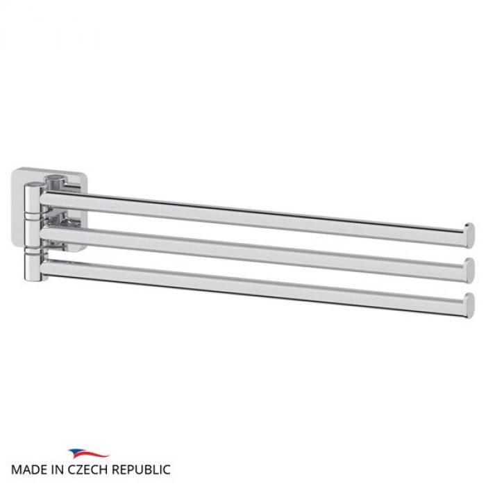 Держатель полотенец поворотный тройной 37 cm (хром) (ELLUX) AVA 017 для ванной