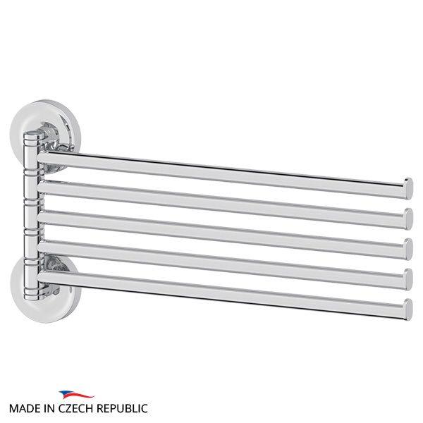 Держатель полотенец поворотный пятерной 37 cm (хром) (ELLUX) ELE 019 для ванной