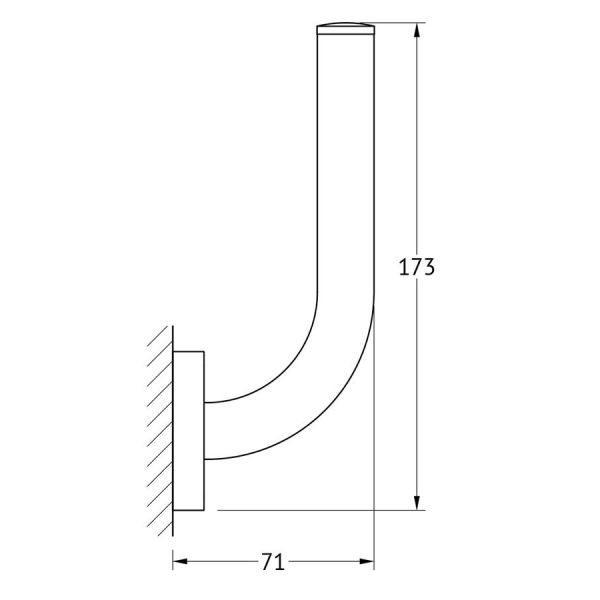 Держатель запасного рулона туалетной бумаги (хром) (ELLUX) AVA 063 для ванной