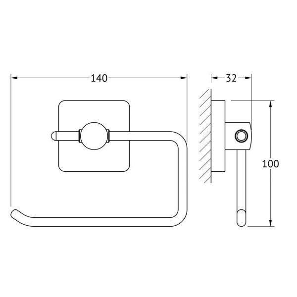 Держатель туалетной бумаги (хром) (ELLUX) AVA 065 для ванной