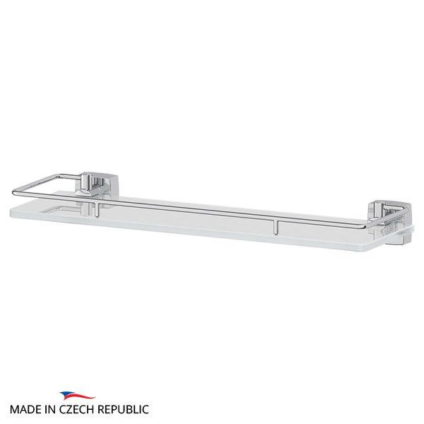 Полка с держателями 40 cm (матовое стекло; хром) (FBS) ESP 014 для ванной