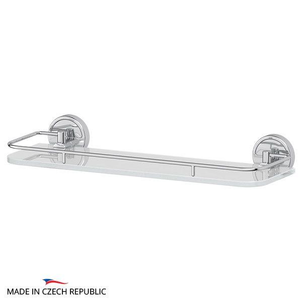 Полка с держателями 40 cm (матовое стекло; хром) (FBS) LUX 014 для ванной