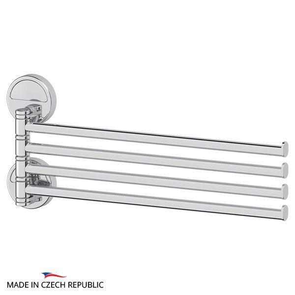 Держатель полотенец поворотный четверной 37 cm (хром) (FBS) LUX 046 для ванной