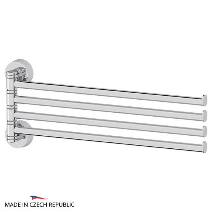 Держатель полотенец поворотный четверной 37 cm (хром) (FBS) NOS 046 для ванной