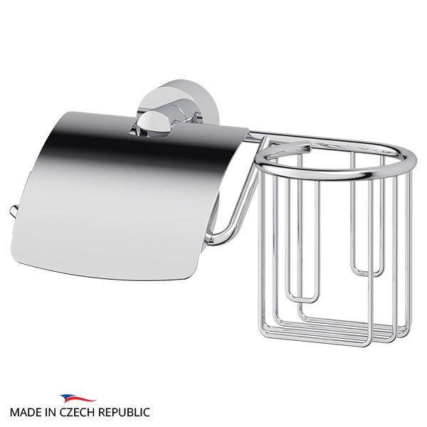 Держатель освежителя воздуха и туалетной бумаги с крышкой (хром) (FBS) NOS 053 для ванной