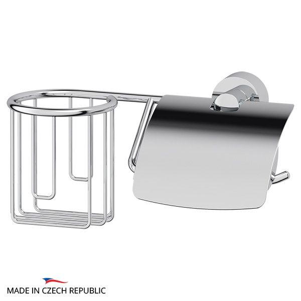 Держатель освежителя воздуха и туалетной бумаги с крышкой (хром) (FBS) NOS 054 для ванной