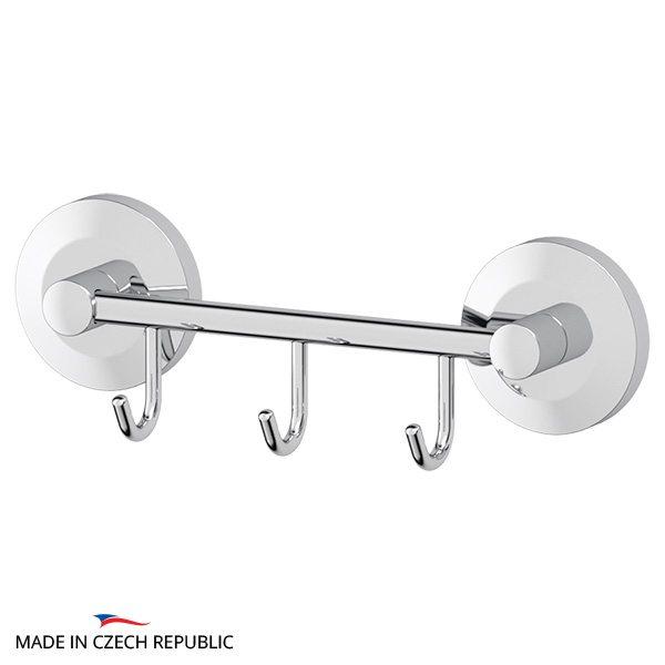 Штанга с 3-мя крючками 20 cm (хром) (FBS) STA 024 для ванной