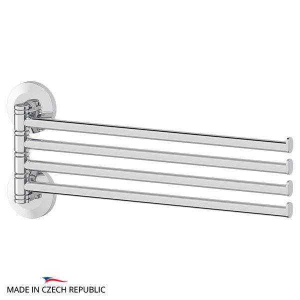 Держатель полотенец поворотный четверной 37 cm (хром) (FBS) STA 046 для ванной