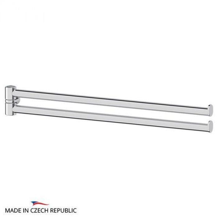 Держатель полотенец поворотный двойной 35 cm - компонент для штанги  (хром) (FBS) UNI 036 для ванной