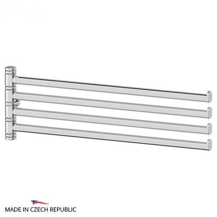 Держатель полотенец поворотный четверной 35 cm - компонент для штанги (хром) (FBS) UNI 038 для ванной