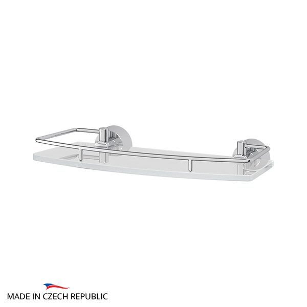 Полка с держателями 30 cm (матовое стекло; хром) (FBS) VIZ 013 для ванной