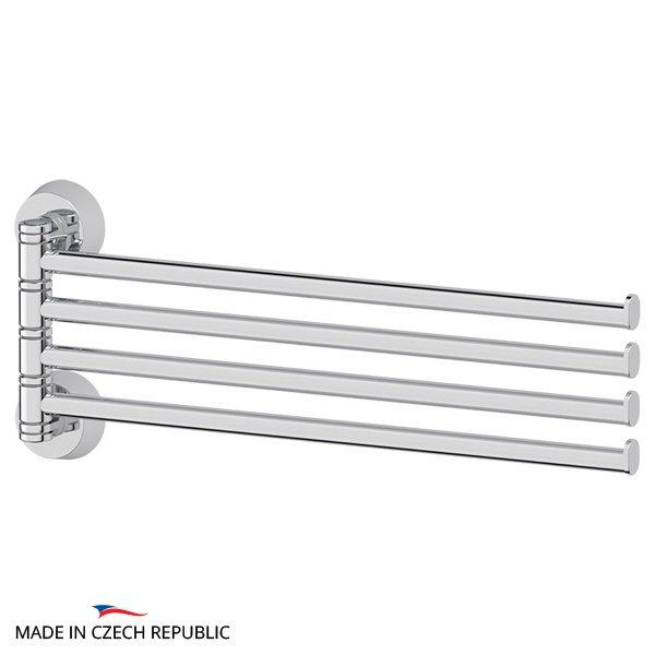 Держатель полотенец поворотный четверной 37 cm (хром) (FBS) VIZ 046 для ванной