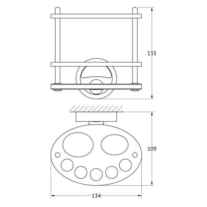 Держатель зубных щеток и пасты (матовое стекло; хром) (FBS) ELL 060 для ванной