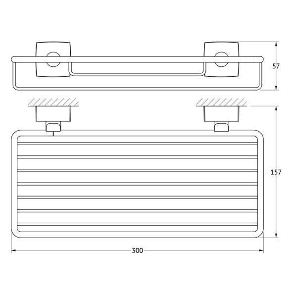 Полочка-решетка 30 cm (хром) (FBS) ESP 049 для ванной