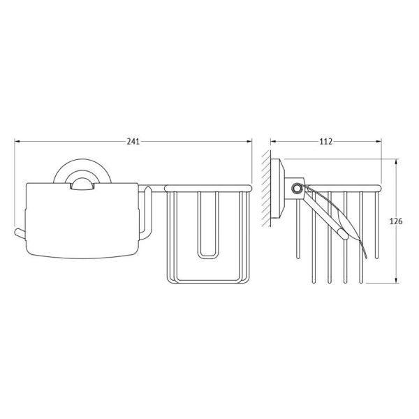 Держатель освежителя воздуха и туалетной бумаги с крышкой (хром) (FBS) STA 053 для ванной