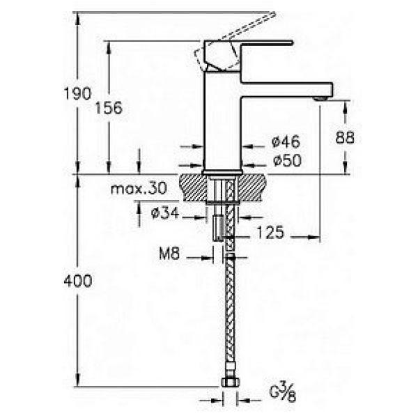 Смеситель для раковины VitrA Flo S A41936EXP